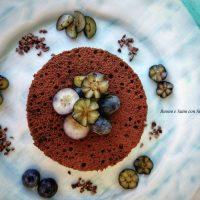 Tortino cacao e mirtilli