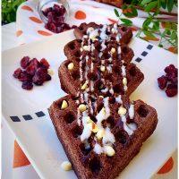 Waffle soffici cacao