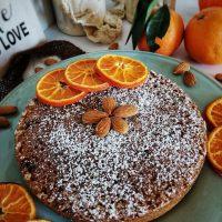 Torta Caprese all'arancia senza burro