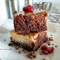 Brownies Cheesecake senza zucchero